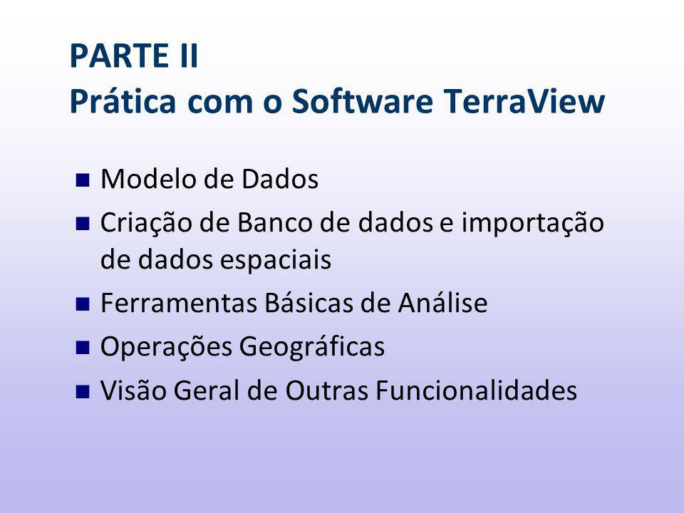 PARTE II Prática com o Software TerraView