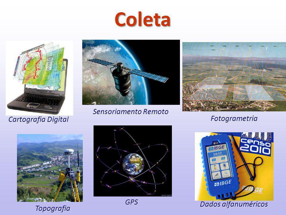 Coleta Sensoriamento Remoto Fotogrametria Cartografia Digital GPS