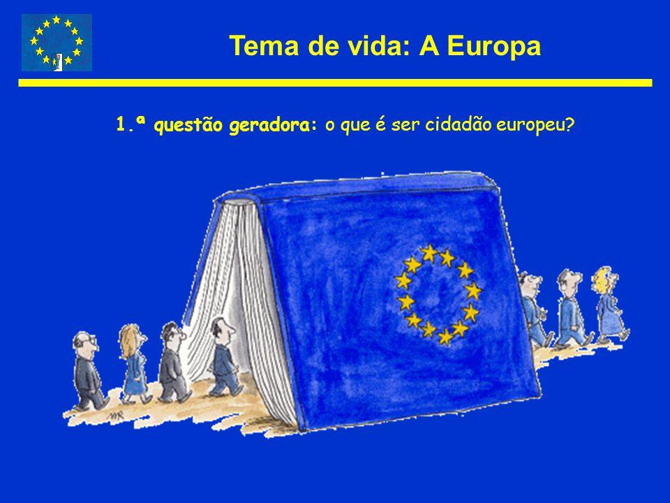 1.ª questão geradora: o que é ser cidadão europeu