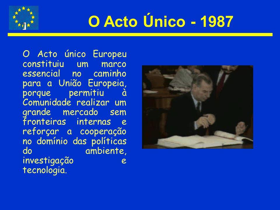 O Acto Único - 1987