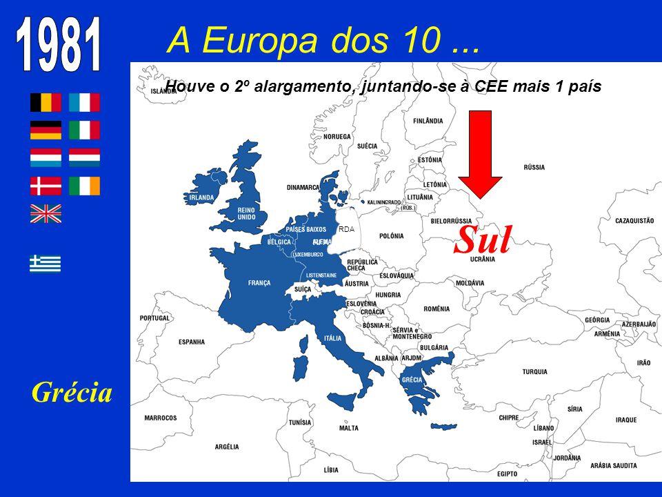 Houve o 2º alargamento, juntando-se à CEE mais 1 país