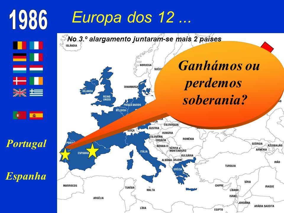 No 3.º alargamento juntaram-se mais 2 países