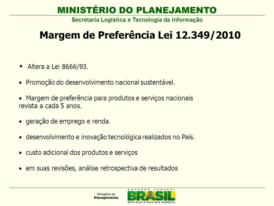 Margem de Preferência Lei 12.349/2010