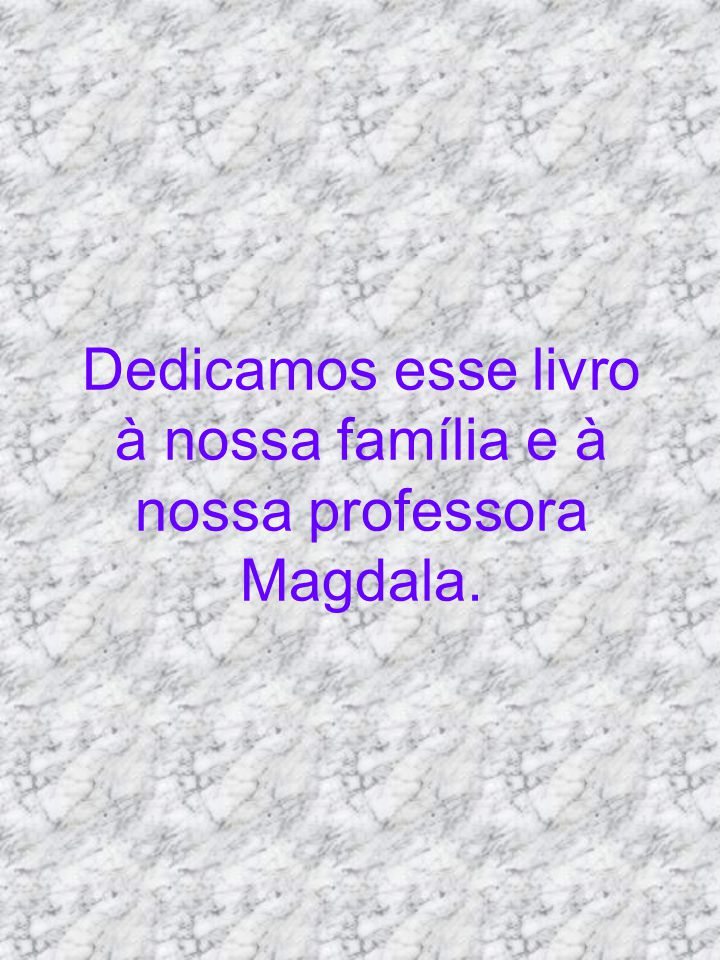 Dedicamos esse livro à nossa família e à nossa professora Magdala.