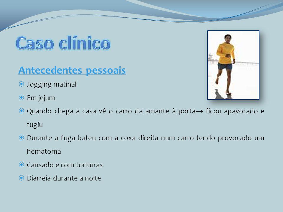 Caso clínico Antecedentes pessoais Jogging matinal Em jejum
