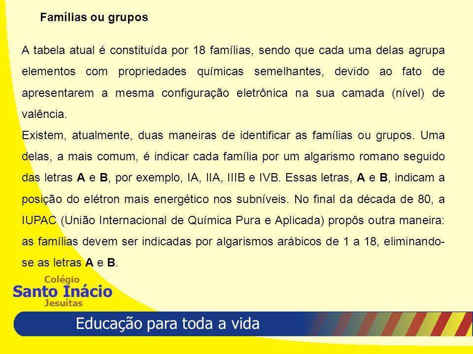 Famílias ou grupos