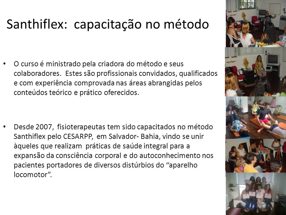 Santhiflex: capacitação no método