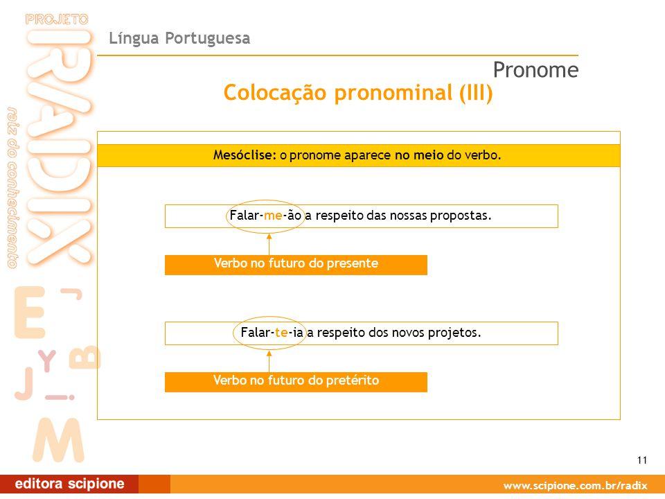 Colocação pronominal (III)