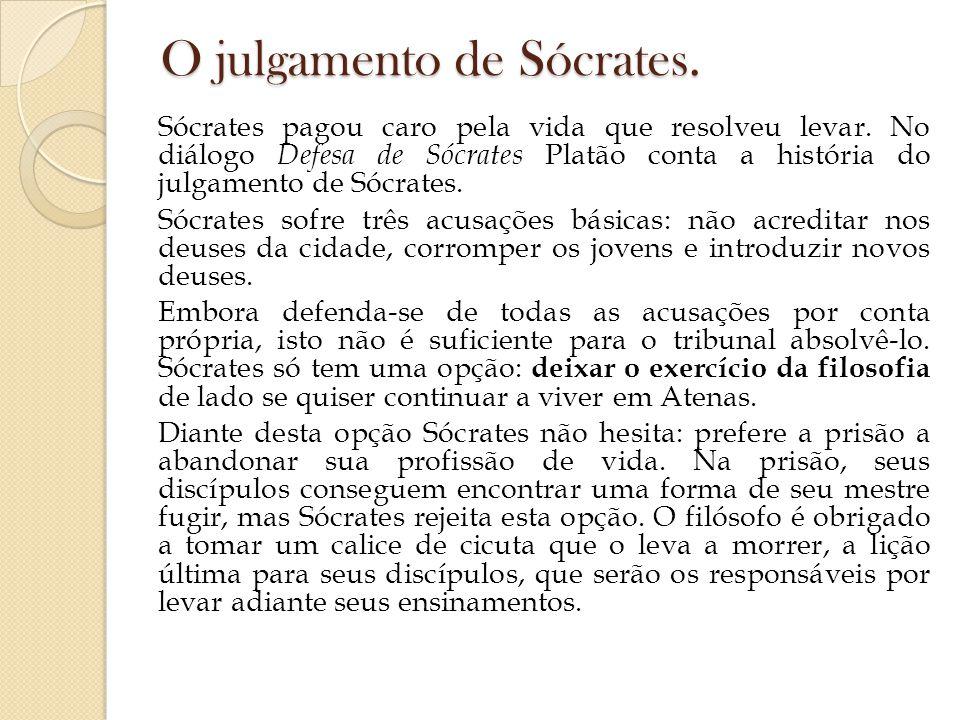 O julgamento de Sócrates.