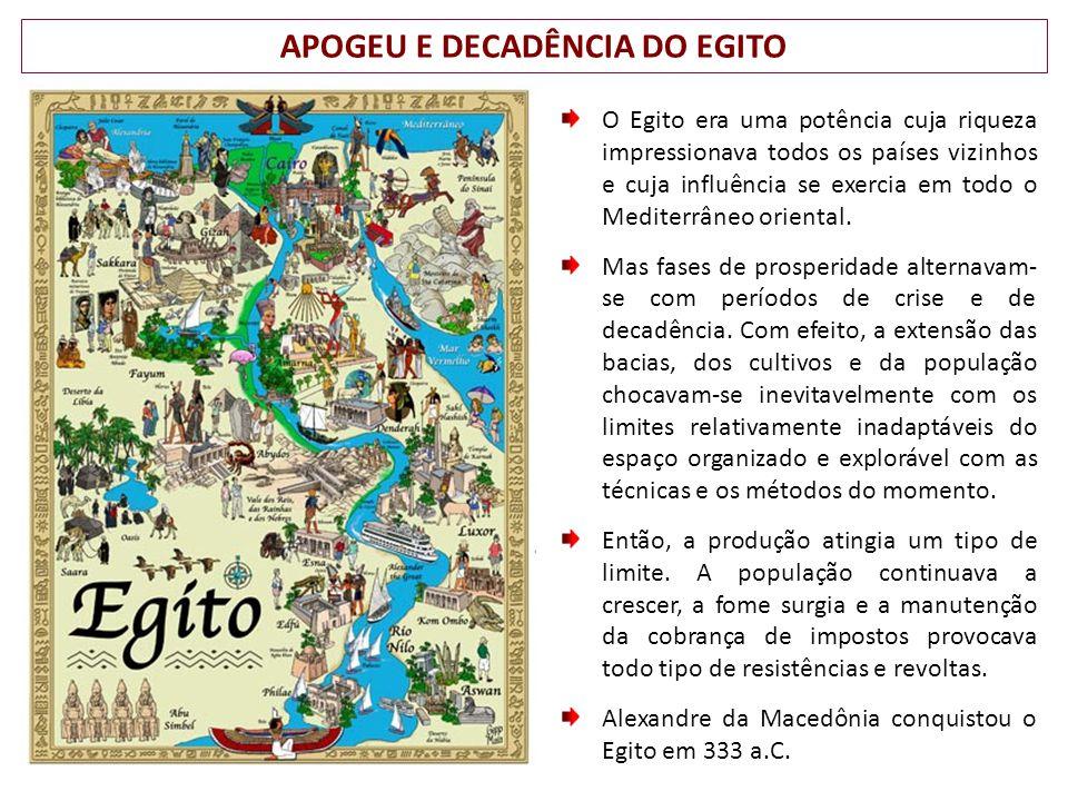 APOGEU E DECADÊNCIA DO EGITO