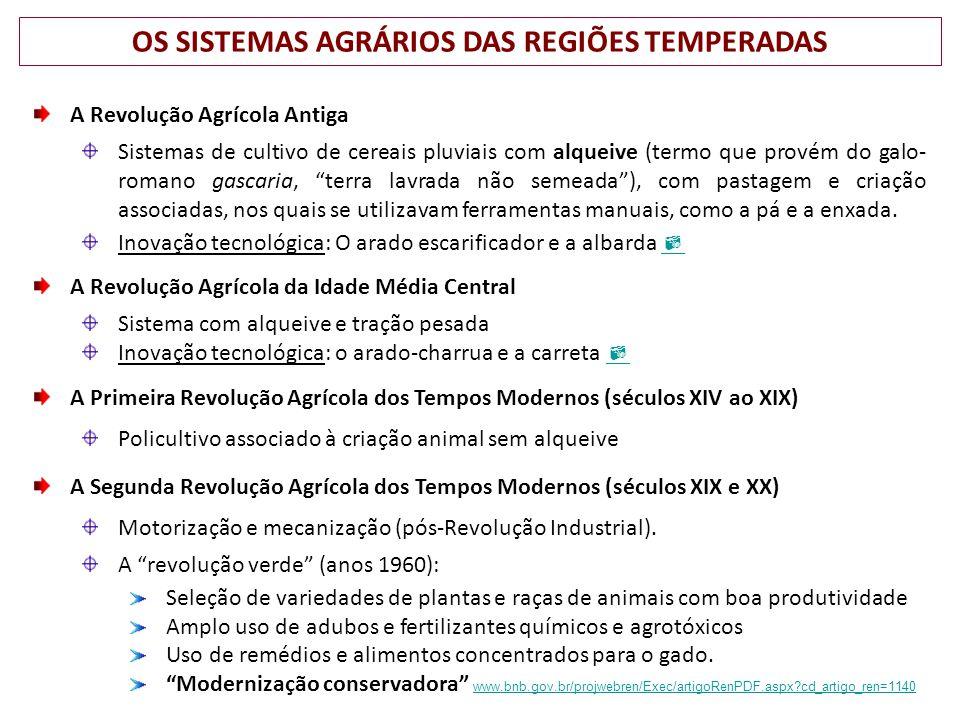 OS SISTEMAS AGRÁRIOS DAS REGIÕES TEMPERADAS