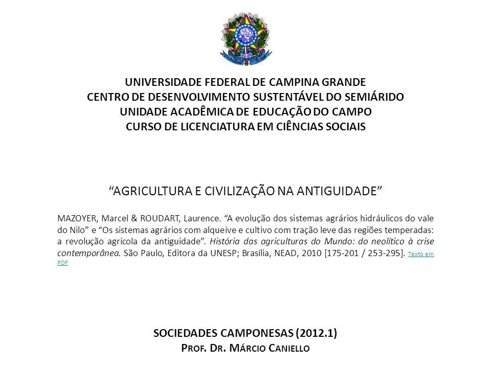 AGRICULTURA E CIVILIZAÇÃO NA ANTIGUIDADE