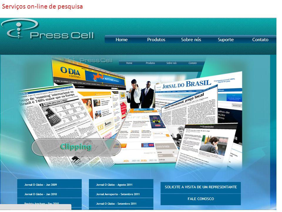 Serviços on-line de pesquisa