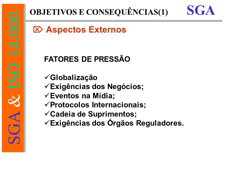 OBJETIVOS E CONSEQUÊNCIAS(1)