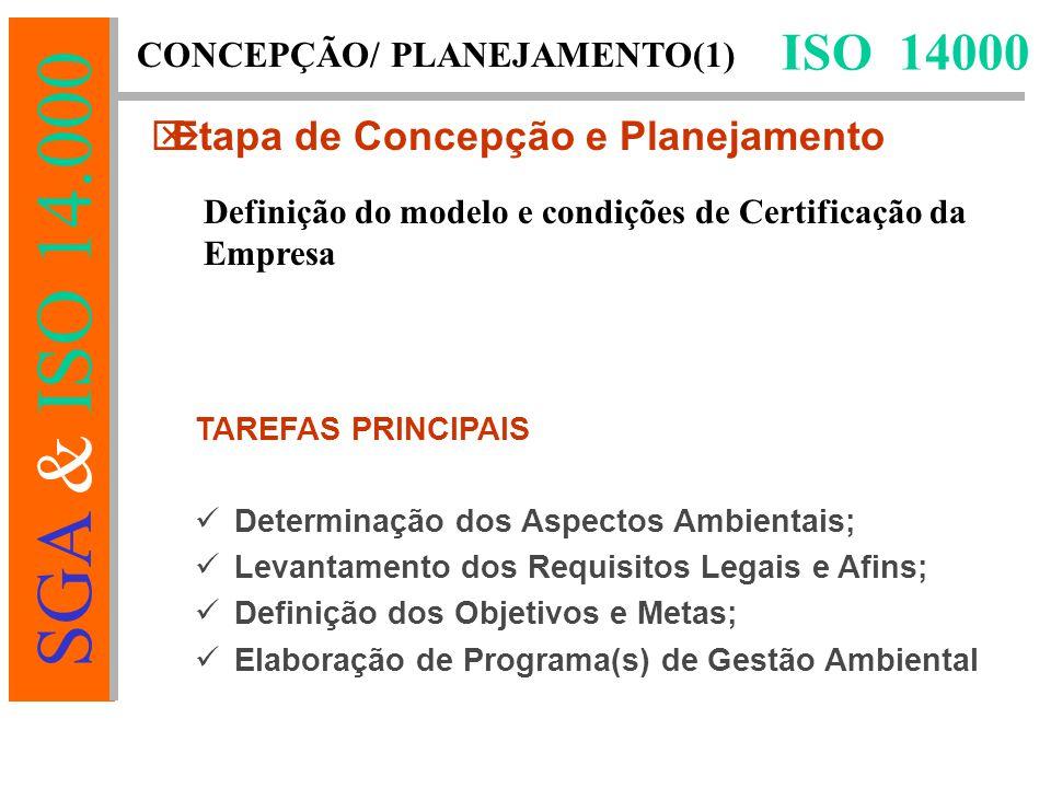 ISO 14000 Etapa de Concepção e Planejamento CONCEPÇÃO/ PLANEJAMENTO(1)