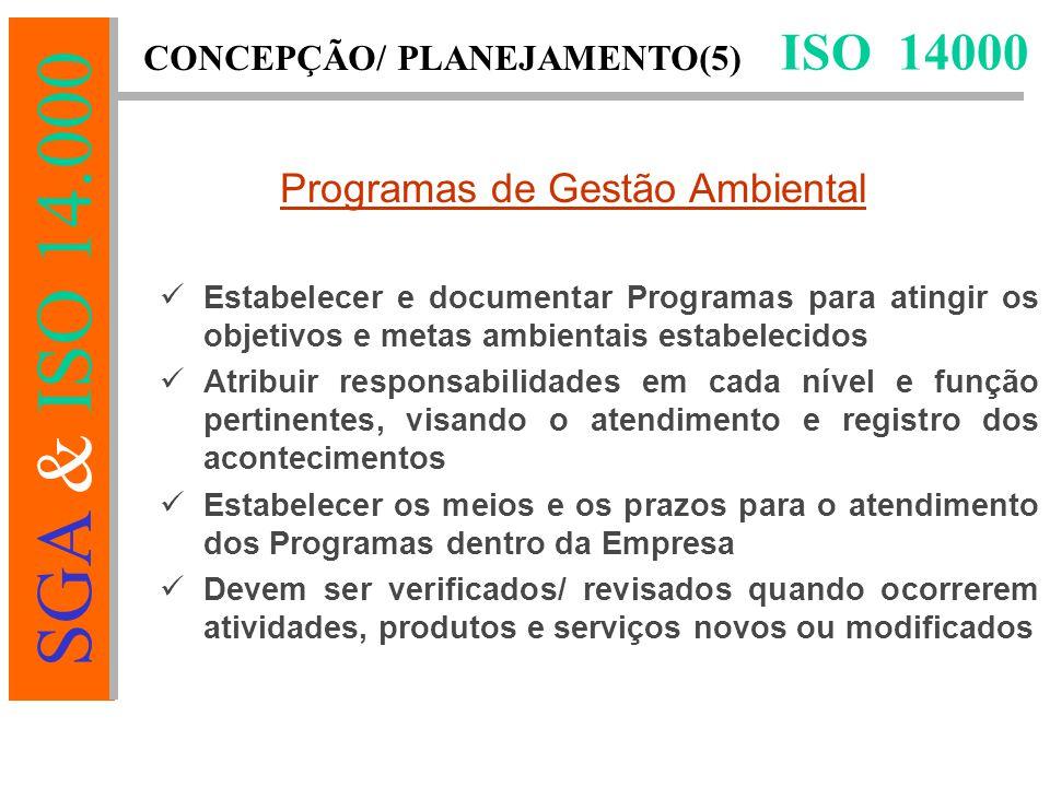 Programas de Gestão Ambiental