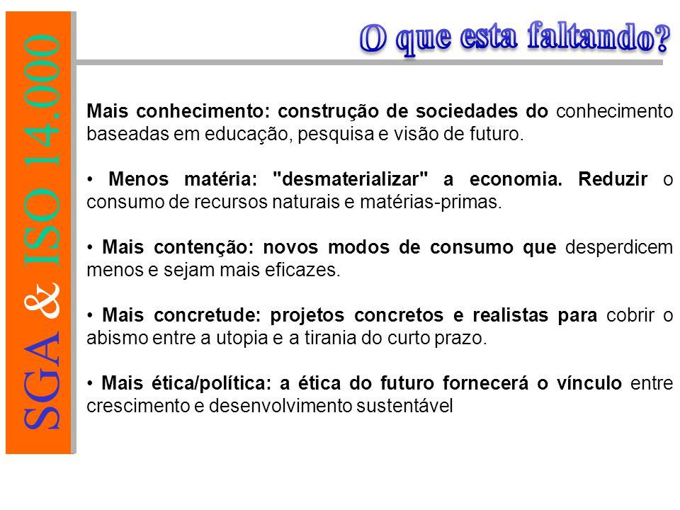 O que esta faltando Mais conhecimento: construção de sociedades do conhecimento baseadas em educação, pesquisa e visão de futuro.