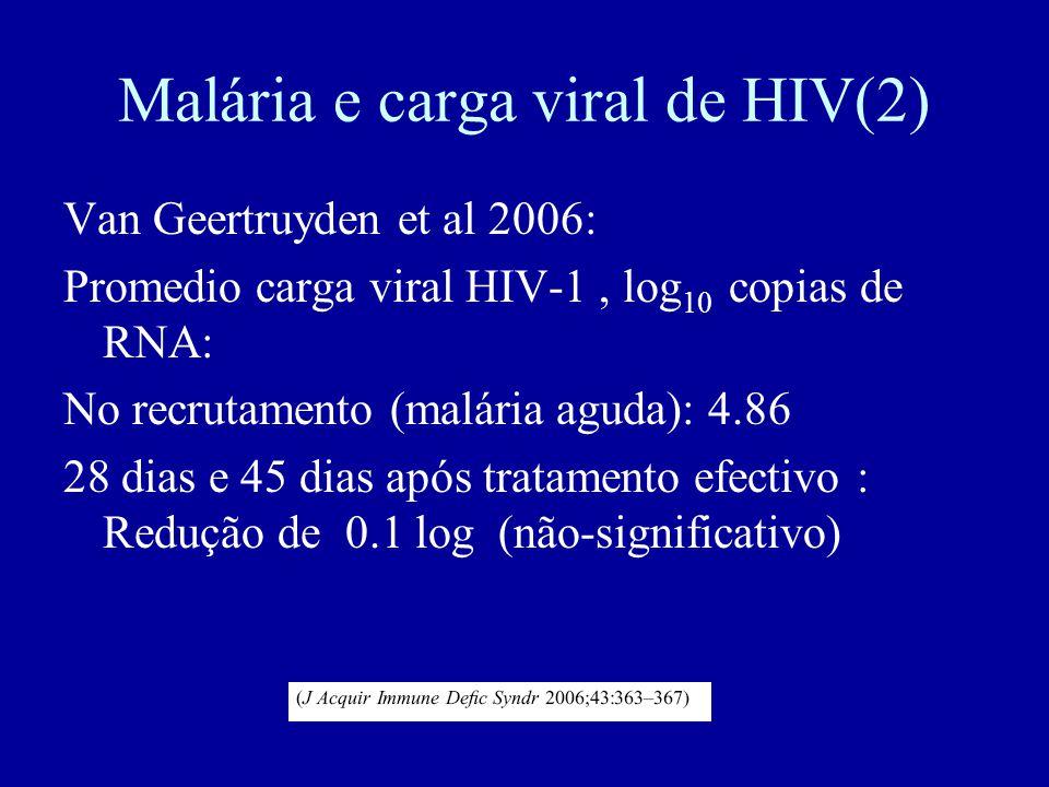 Malária e carga viral de HIV(2)