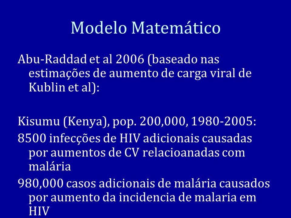 Modelo Matemático Abu-Raddad et al 2006 (baseado nas estimações de aumento de carga viral de Kublin et al):