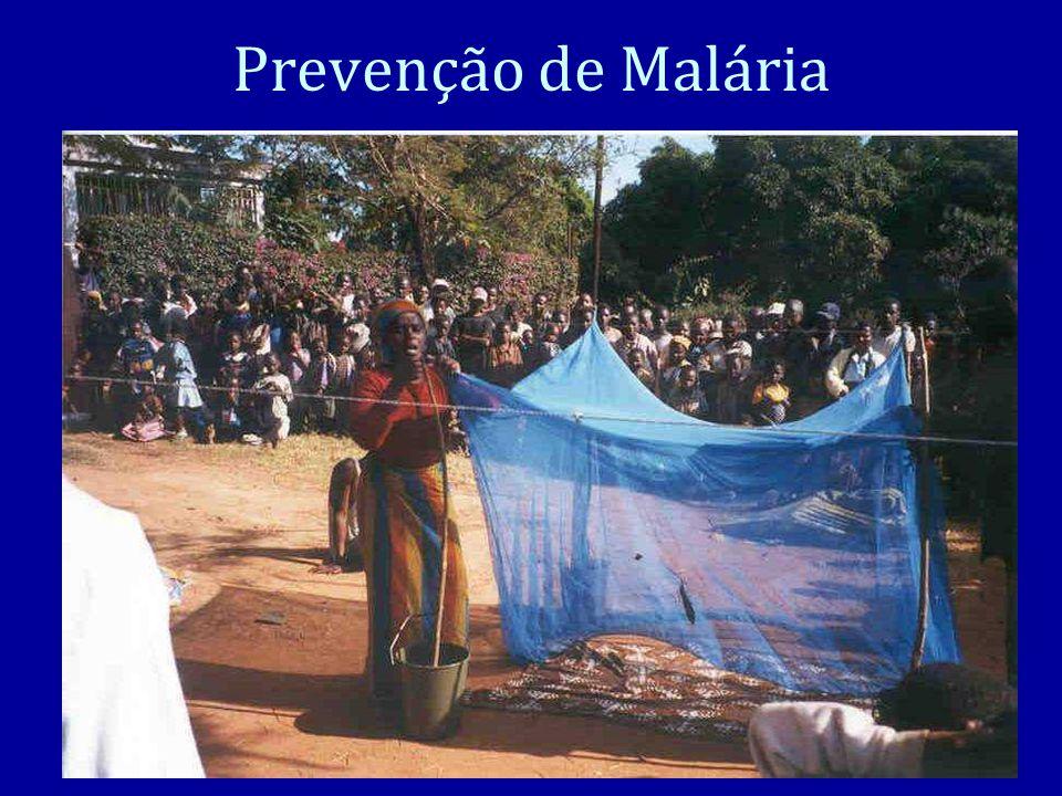 Prevenção de Malária An ounce of prevention is worth a pound of cure. Uma onza de prevencao tem o valor duma libra de cura.