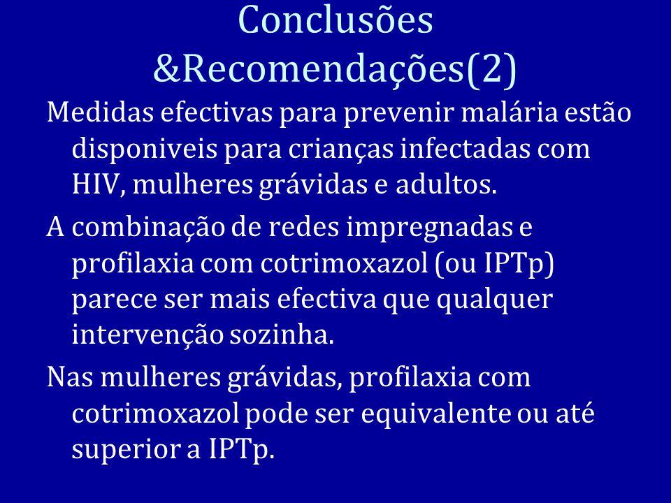 Conclusões &Recomendações(2)