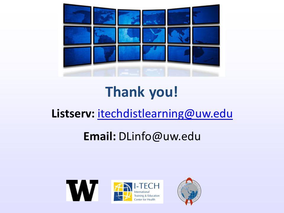 Listserv: itechdistlearning@uw.edu