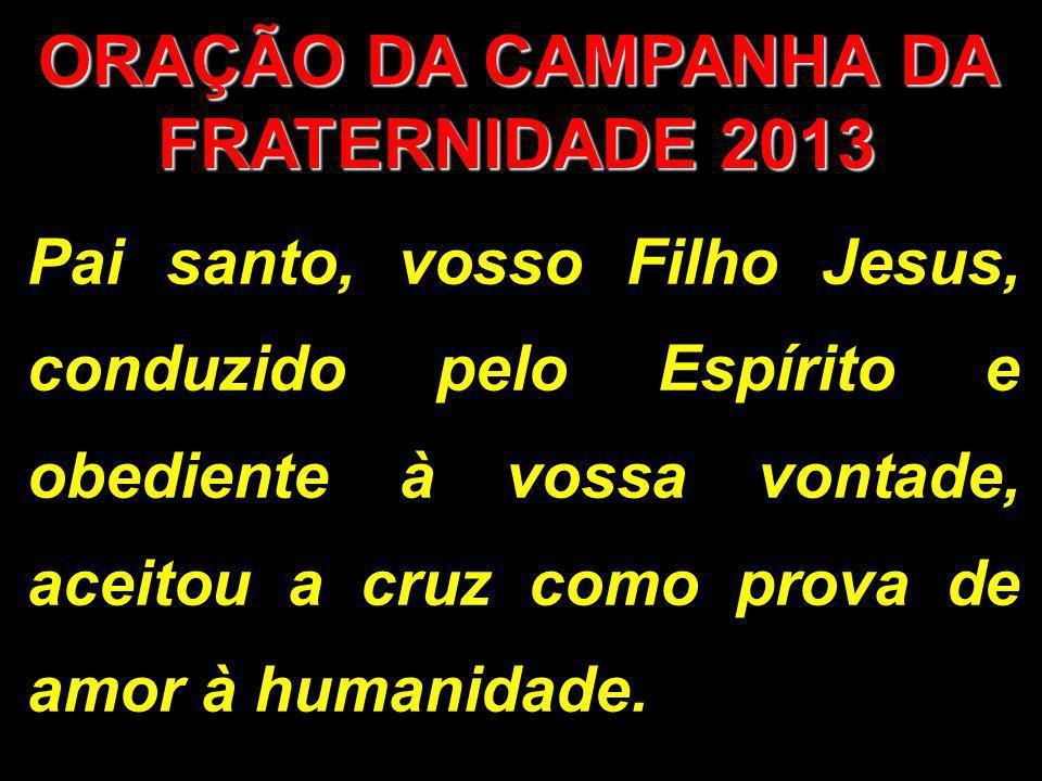 ORAÇÃO DA CAMPANHA DA FRATERNIDADE 2013
