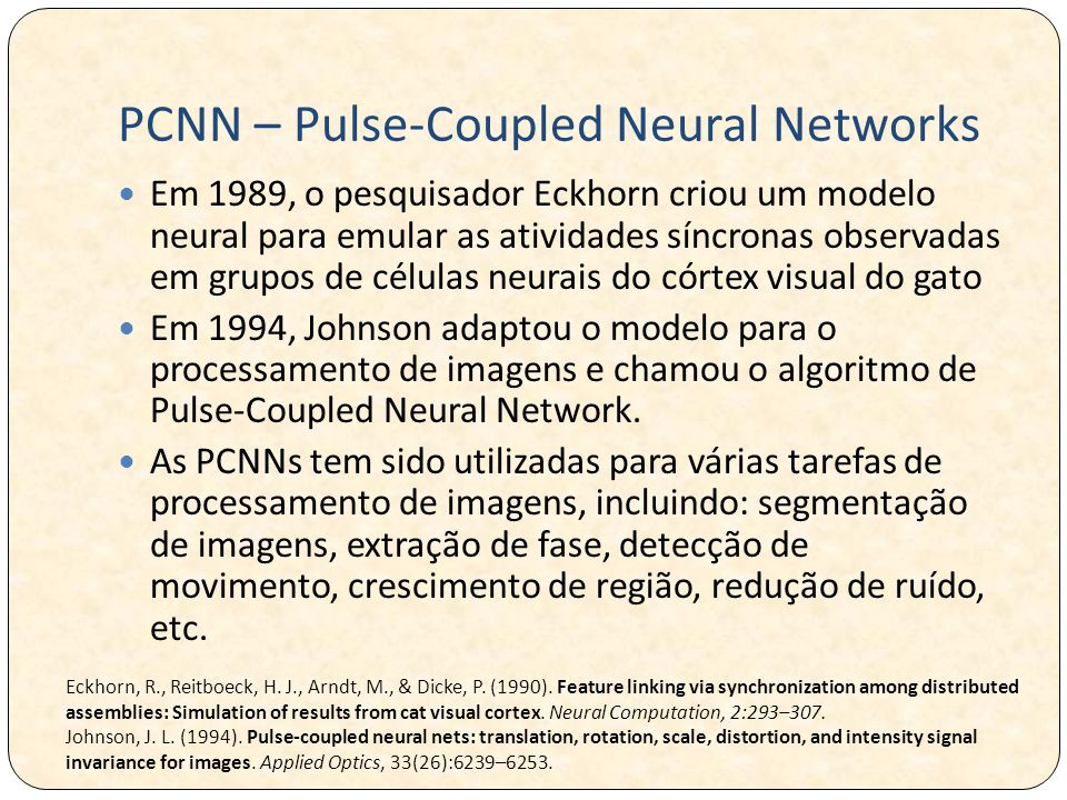 PCNN – Pulse-Coupled Neural Networks