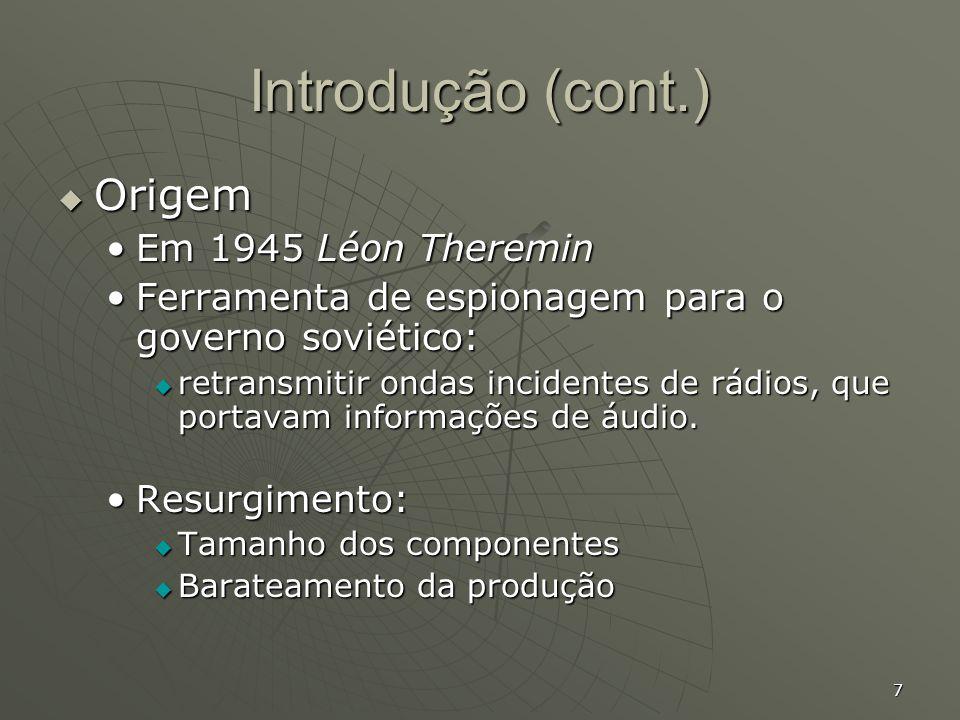 Introdução (cont.) Origem Em 1945 Léon Theremin