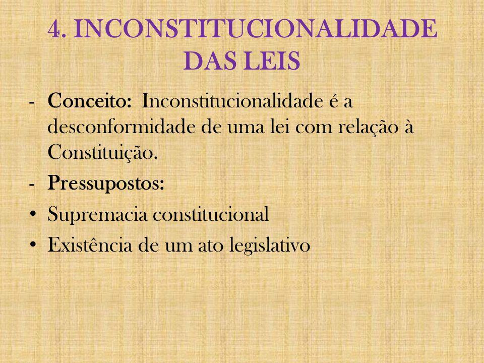 4. INCONSTITUCIONALIDADE DAS LEIS
