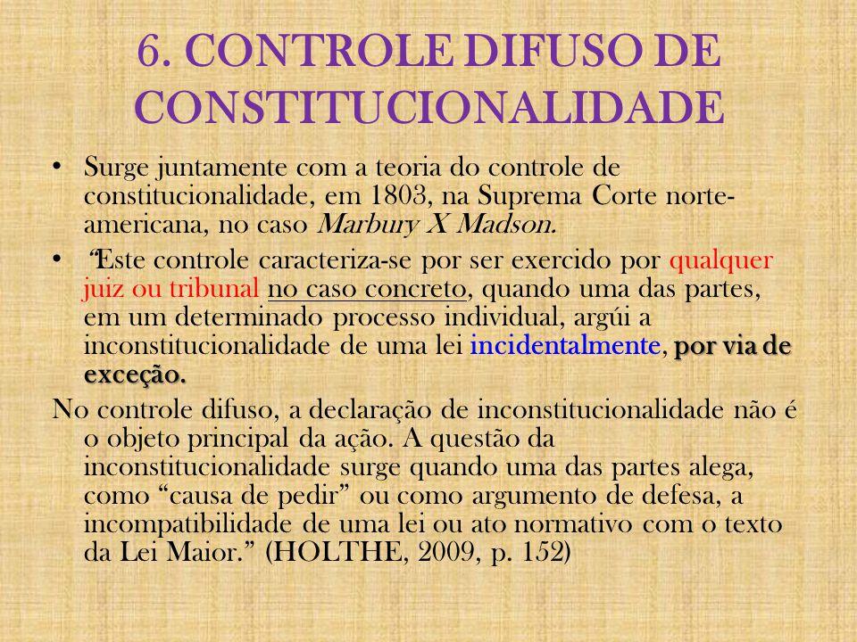 6. CONTROLE DIFUSO DE CONSTITUCIONALIDADE