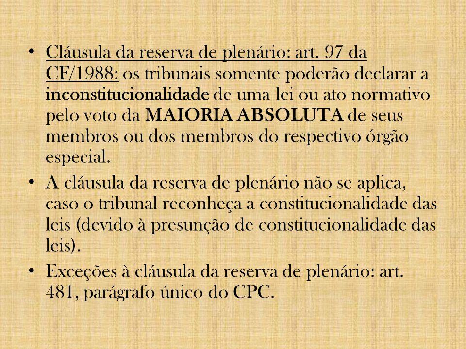 Cláusula da reserva de plenário: art