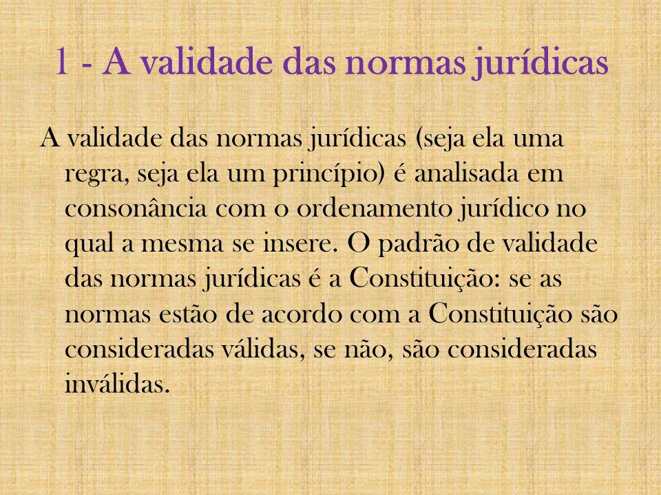 1 - A validade das normas jurídicas