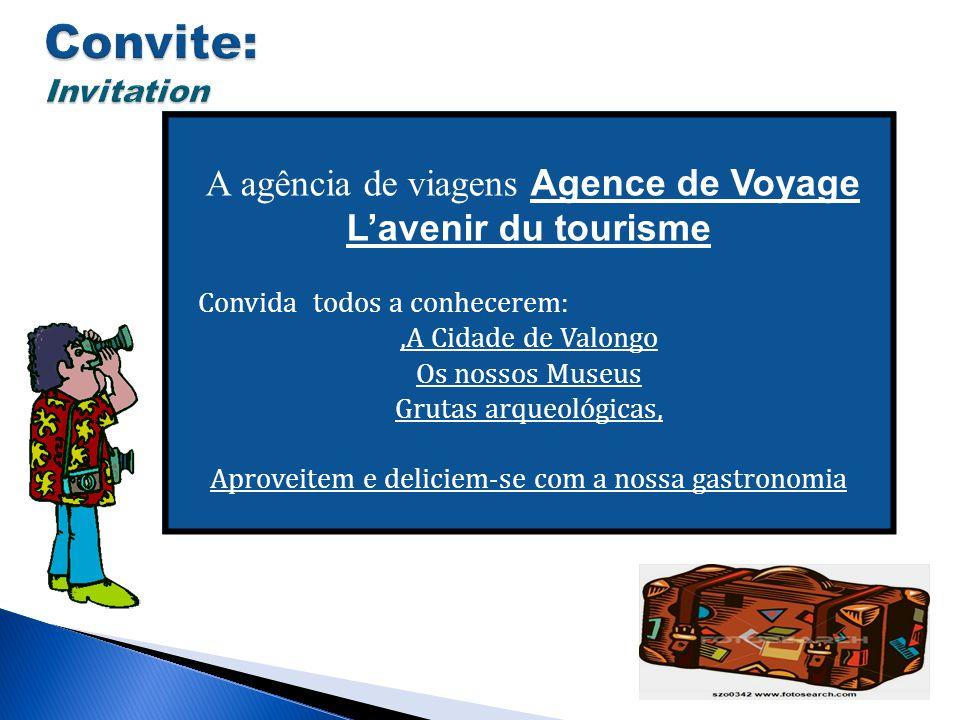 Convite: Invitation A agência de viagens Agence de Voyage