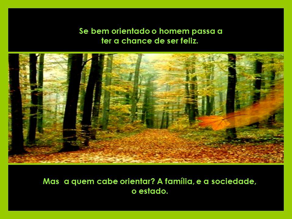 Mas a quem cabe orientar A família, e a sociedade, o estado.