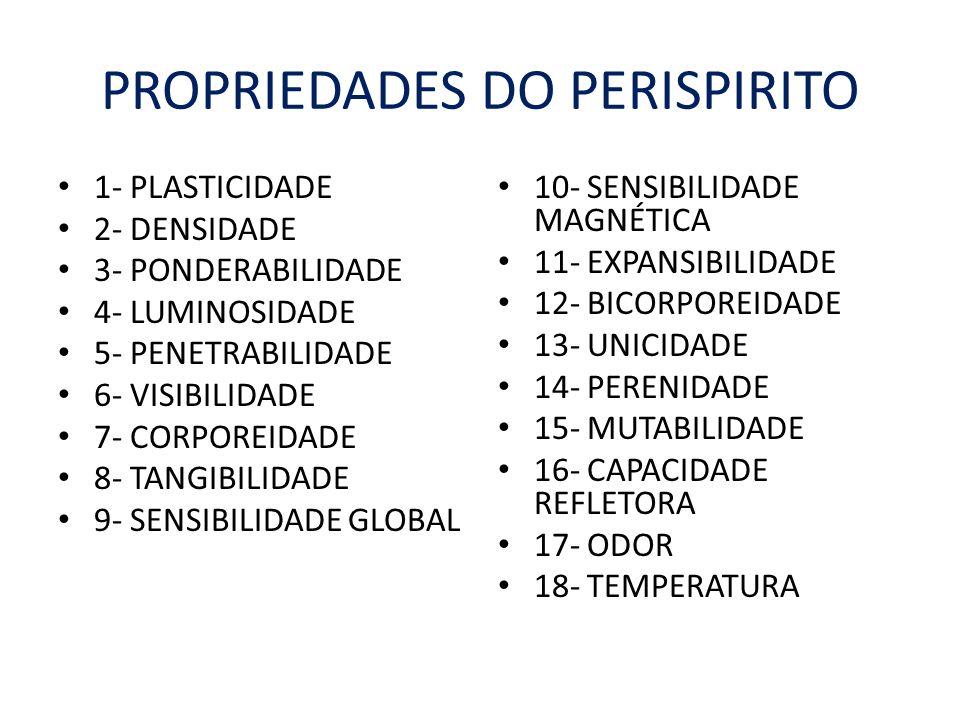 PROPRIEDADES DO PERISPIRITO