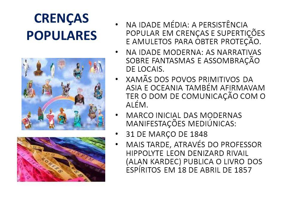 CRENÇAS POPULARES NA IDADE MÉDIA: A PERSISTÊNCIA POPULAR EM CRENÇAS E SUPERTIÇÕES E AMULETOS PARA OBTER PROTEÇÃO.