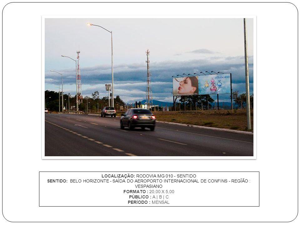 LOCALIZAÇÃO: RODOVIA MG 010 - SENTIDO