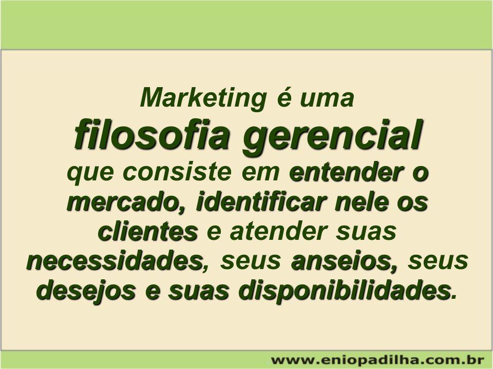 Marketing é uma filosofia gerencial