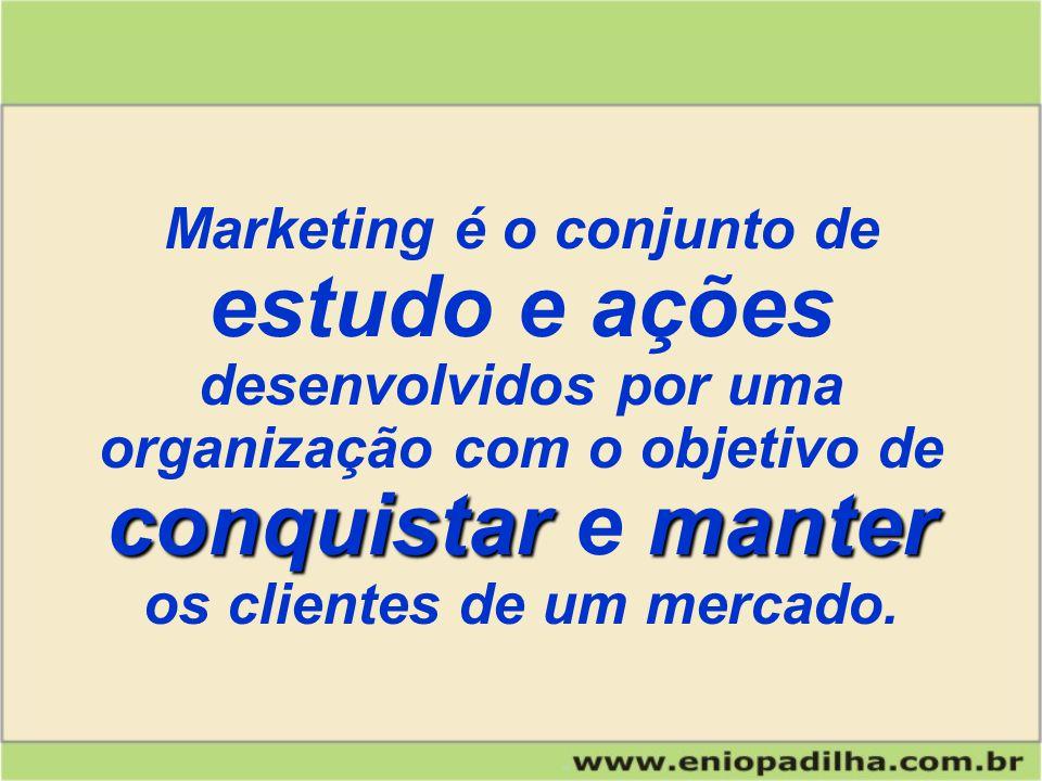 Marketing é o conjunto de os clientes de um mercado.