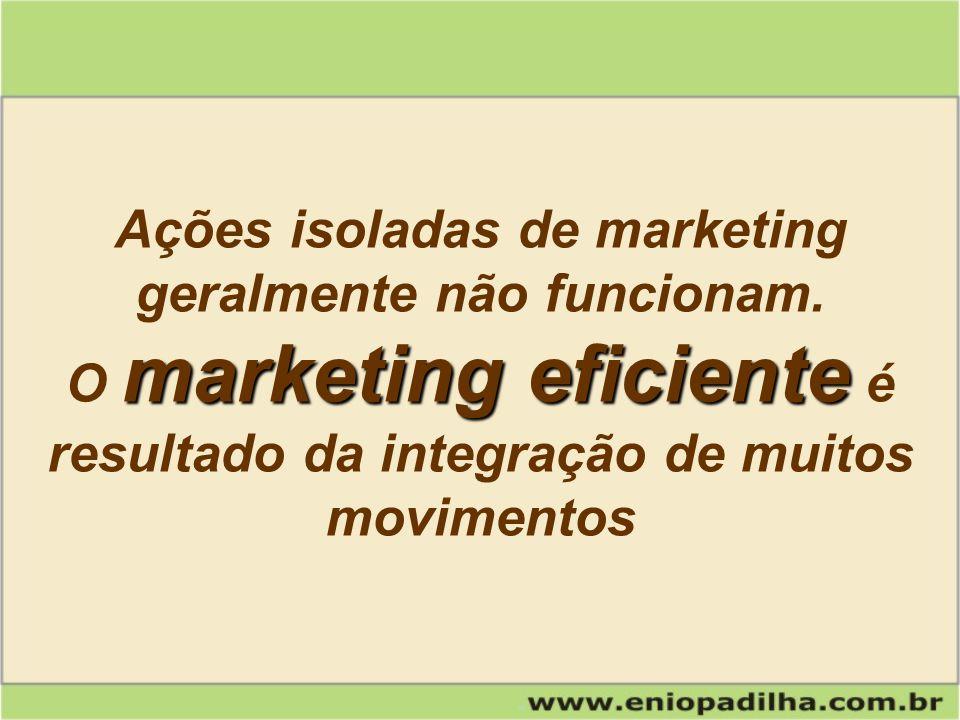 Ações isoladas de marketing geralmente não funcionam.