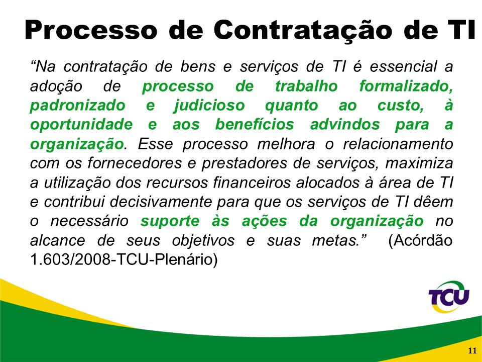 Processo de Contratação de TI