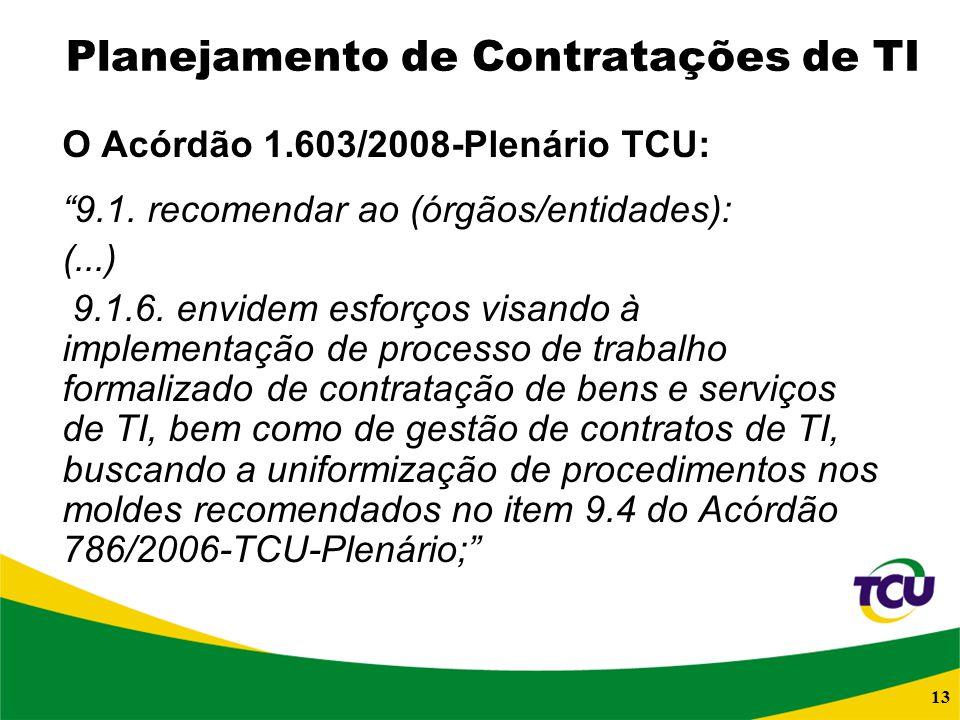 Planejamento de Contratações de TI