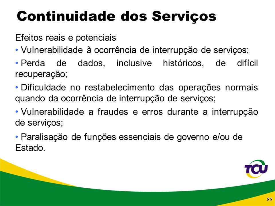 Continuidade dos Serviços