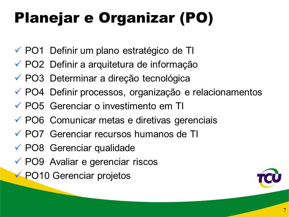 Planejar e Organizar (PO)