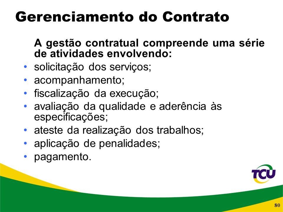Gerenciamento do Contrato