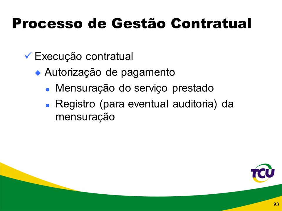 Processo de Gestão Contratual