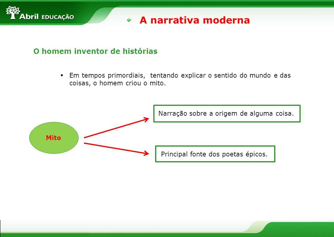 A narrativa moderna O homem inventor de histórias