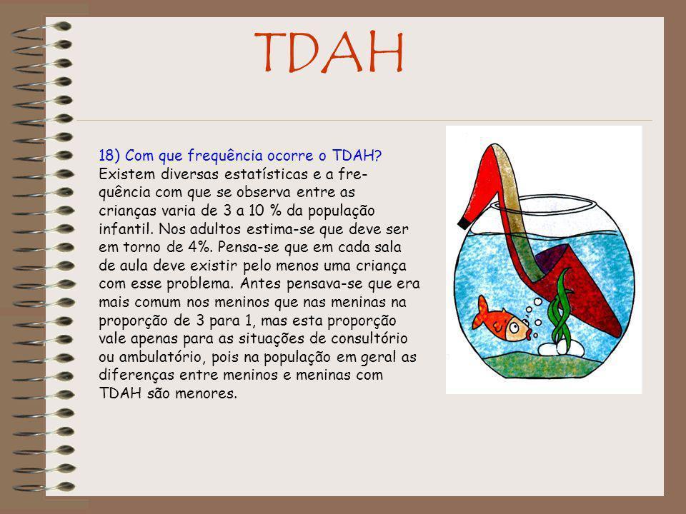 TDAH 18) Com que frequência ocorre o TDAH