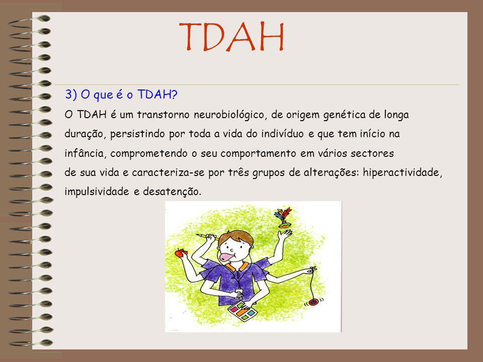 TDAH 3) O que é o TDAH O TDAH é um transtorno neurobiológico, de origem genética de longa.
